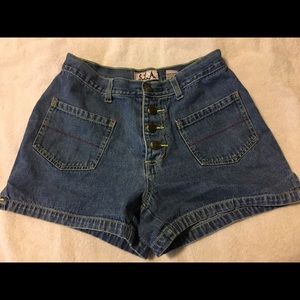 Girls jean stretchy shorts 7/8